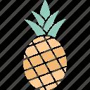 ananas, ananas comosus, organic, pineapple icon