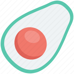 avocado, food, fruit, half avocado, pear, pome icon