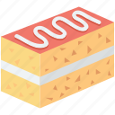 bakery food, cake piece, dessert, pastry, sweet food icon
