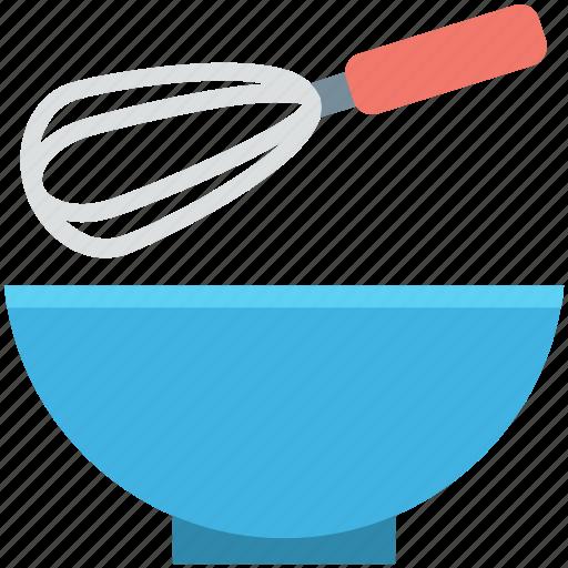 bowl, cake mixer, hand mixer, utensils, whisk icon