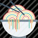 bowl, noodles, snack, spaghetti, vermicelli icon
