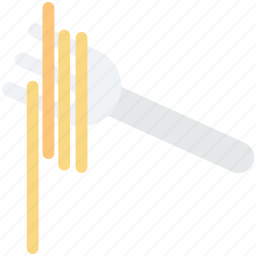 eating utensil, fork, noodles, spaghetti, vermicelli icon