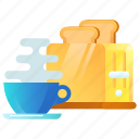 breakfast, coffee, cup, drink, food icon
