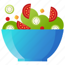 cooking, food, healthy, restaurant, salad, vegetable, vegetarian icon