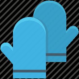 kitchen glove, mitten, oven glove, oven mitt, pot holder icon