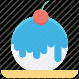 bakery food, cake, cherry, dessert, sweet food icon
