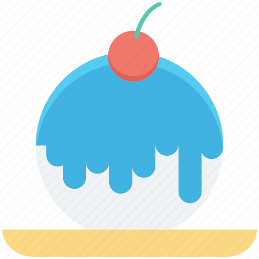 bakery food, cake, cherry, dessert, sweet food icon