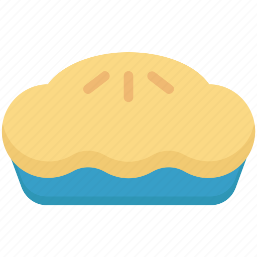 bakery food, dessert, meat pie, pie, sweet pie icon