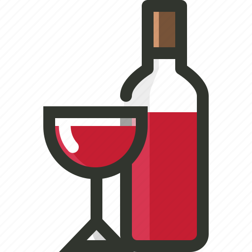 alcohol, beverage, bottle, food, glass, wine icon