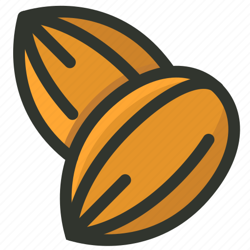 almonds, food, nut, seeds, snack icon