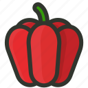 bell, capsicum, food, fruit, pepper, vegetable icon
