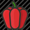pepper, bell, food, capsicum, fruit, vegetable icon