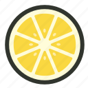 citrus, food, fruit, half, lemon, lime, slice icon