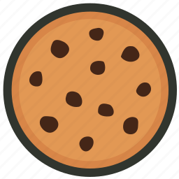 biscuit, chip, chocolate, cookie, cracker, food, snack icon