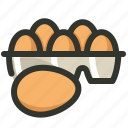 carton, egg, eggs, food, poultry, tray icon