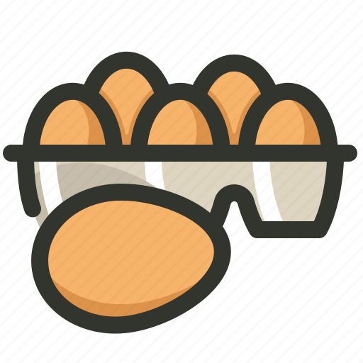 Poultry, food, egg, eggs, carton, tray icon