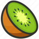 food, fruit, half, juice, kiwi, slice icon
