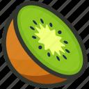 food, fruit, half, juice, kiwi, slice