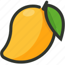 food, fruit, juicy, mango, tropical icon