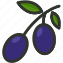 food, fruit, natural, olive, olives icon