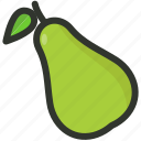 food, fruit, organic, pear, tropical icon