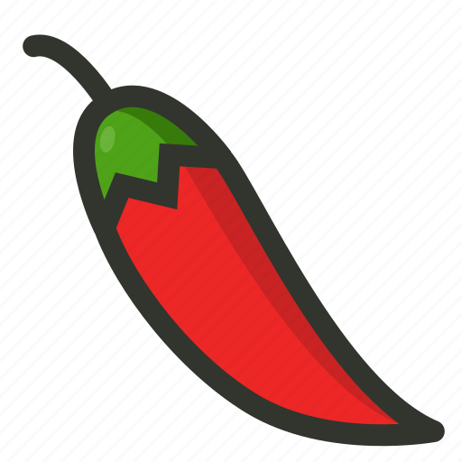 Pepper, spicy, food, chilly, hot, vegetable, red icon