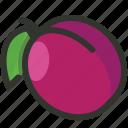 food, fruit, juicy, organic, plum icon