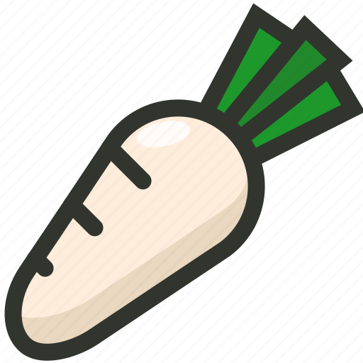 Food, radish, root, vegetable icon - Download on Iconfinder