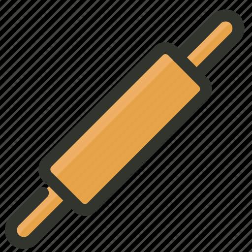 food, kitchen, pin, rolling, tool, utensil icon