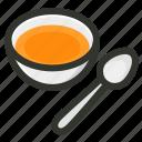 bowl, food, restaurant, soup, spoon
