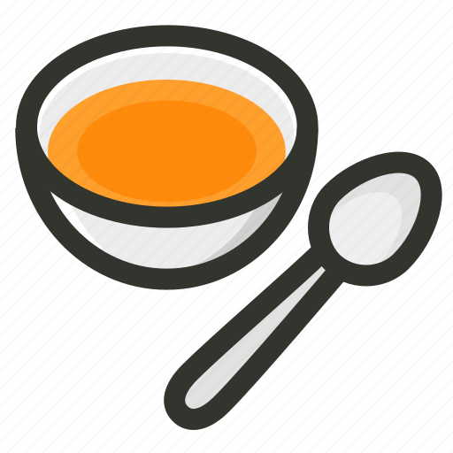 Bowl, food, restaurant, soup, spoon icon - Download on Iconfinder