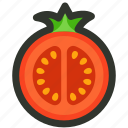 food, half, slice, tomato, vegetable icon