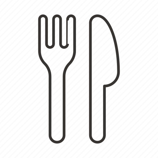 cutlery, eat, fork, kitchen, knife, spoon icon