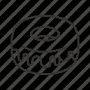 bakery, dessert, donut, doughnut, fondant, food icon