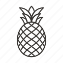 food, fruit, healthy, pineapple, tropical icon