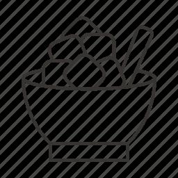 food, fork, kitchen, plate, restaurant icon