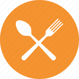 breakfast, eating, food, fork, knife, restaurant, spoon icon