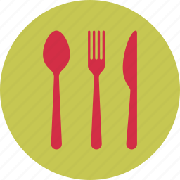 breakfast, food, fork, kitchen, knife, restaurant, spoon icon
