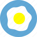 breakfast, dinner, eating, egg, food, fried egg, meal icon