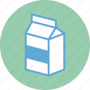 food, healthy, milk, milk bottle, milk box icon
