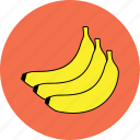 banana, food, fresh fruit, fruits, healthy, organic, vegetable icon