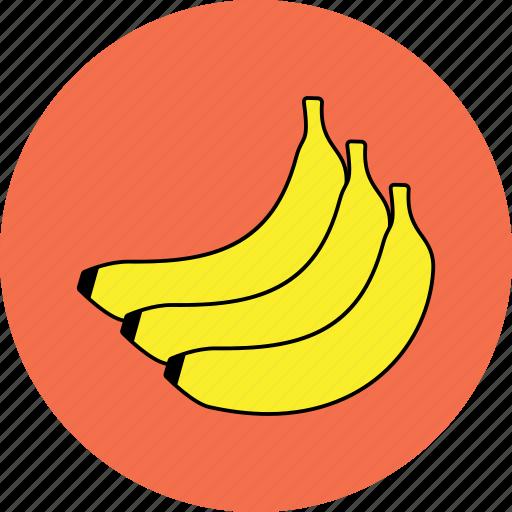 banana, food, fresh fruit, fruits, healthy, organic, vegetable icon