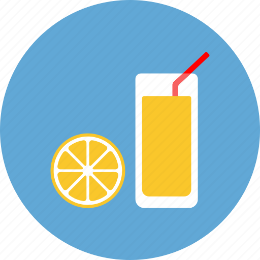drink, food, fruit, glass, healthy, orange, vitamine icon