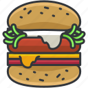 burger, cheeseburger, food, hamburger, meal icon