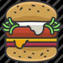 burger, cheeseburger, food, hamburger, meal