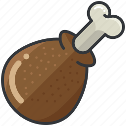chicken, food, leg, meal, meat icon
