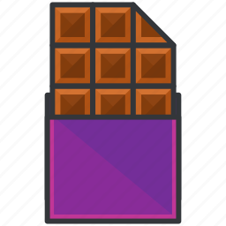 choco, chocolate, food, snack, sweet icon