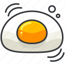 breakfast, egg, food, organic icon
