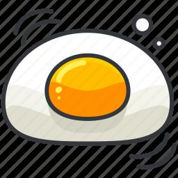 breakfast, egg, food, organic icon