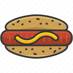 food, hotdog, pastry, sandwich, sausage icon